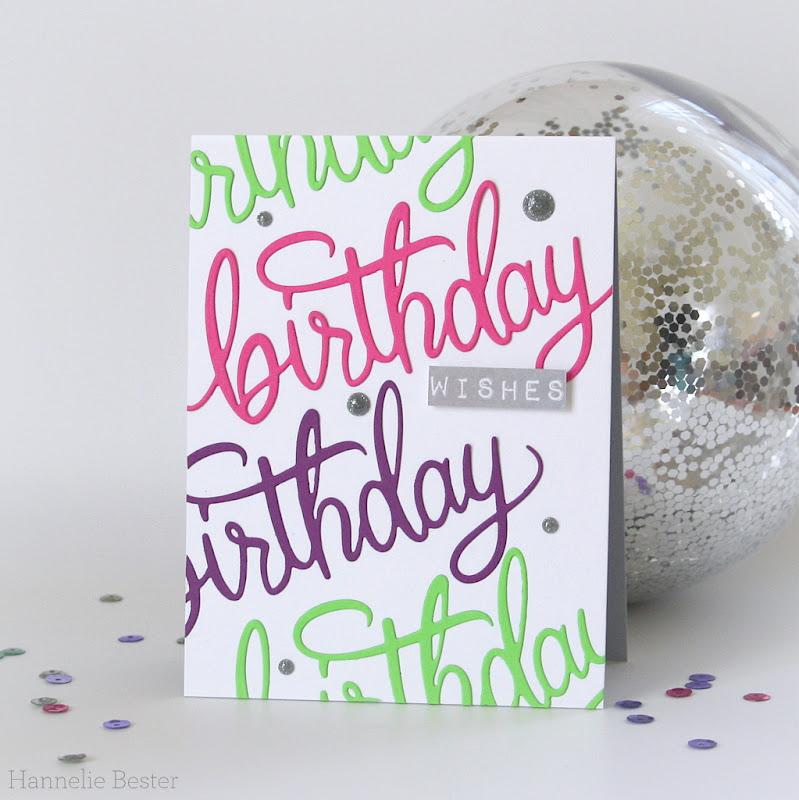 Hero Arts birthday message fancy die