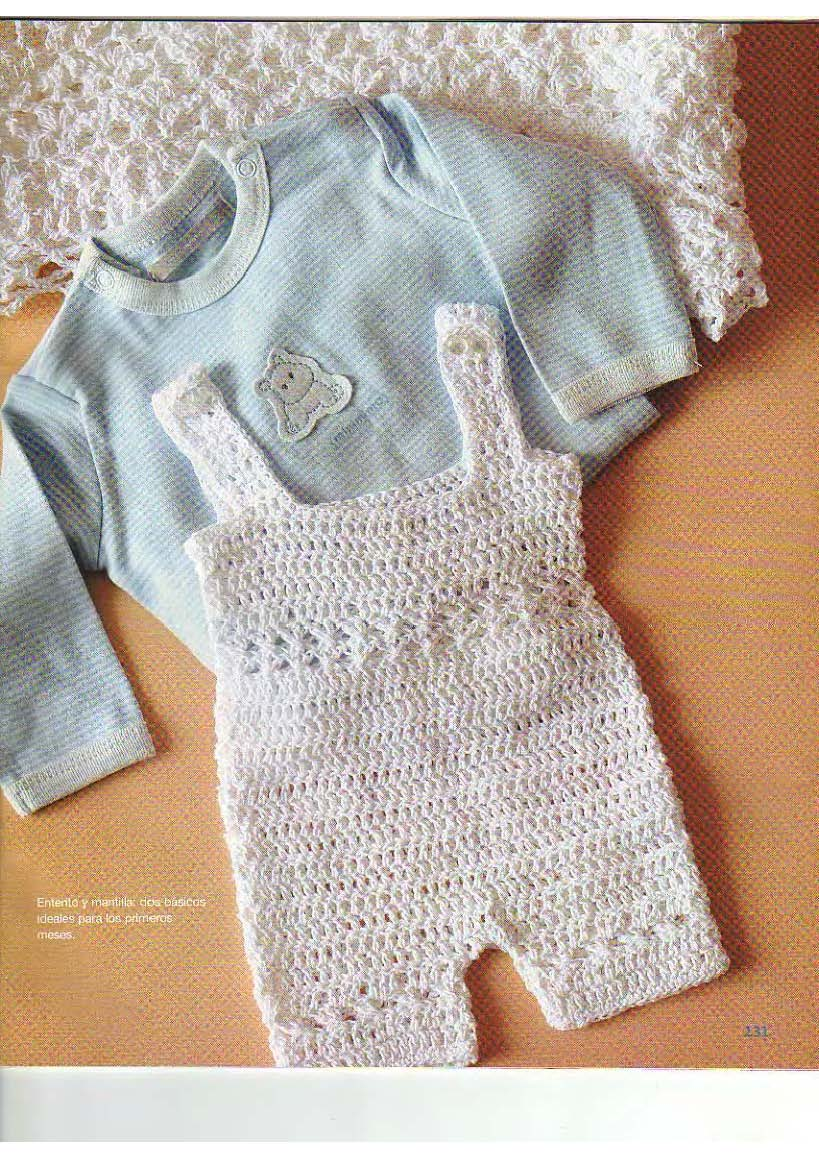 PATRONES GRATIS DE CROCHET: ENTERITO para bebe de 0 a 3 meses a ...