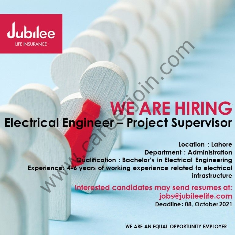 Jubilee Life Insurance Company Limited Jobs October 2021