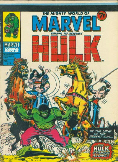 Mighty World of Marvel #117, the Hulk