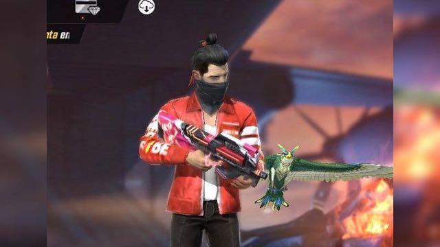 item langka ff jaket merah