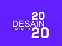 Desain Kalender 2020 Keren Dilengkapi Hari-Hari Penting