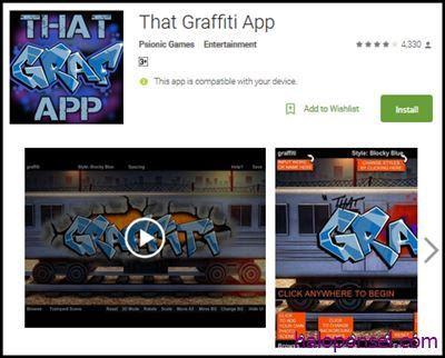 Aplikasi Untuk Membuat Graffiti di Android - That Graffiti App