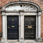 Doors of Ireland: Pair of black doors in Kilkenny