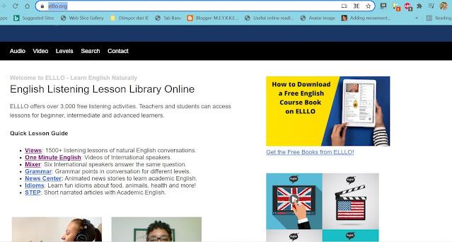 5 website gratis untuk pembelajaran Bahasa Inggris online part 2