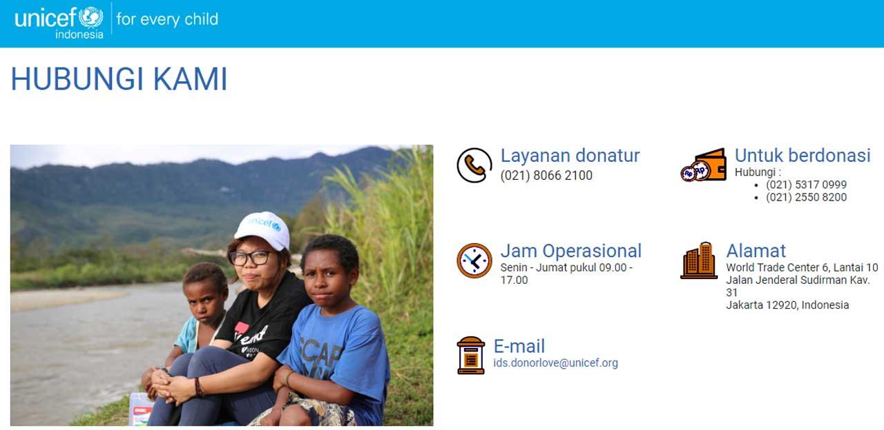 Tata Cara  Berhenti Donasi Unicef