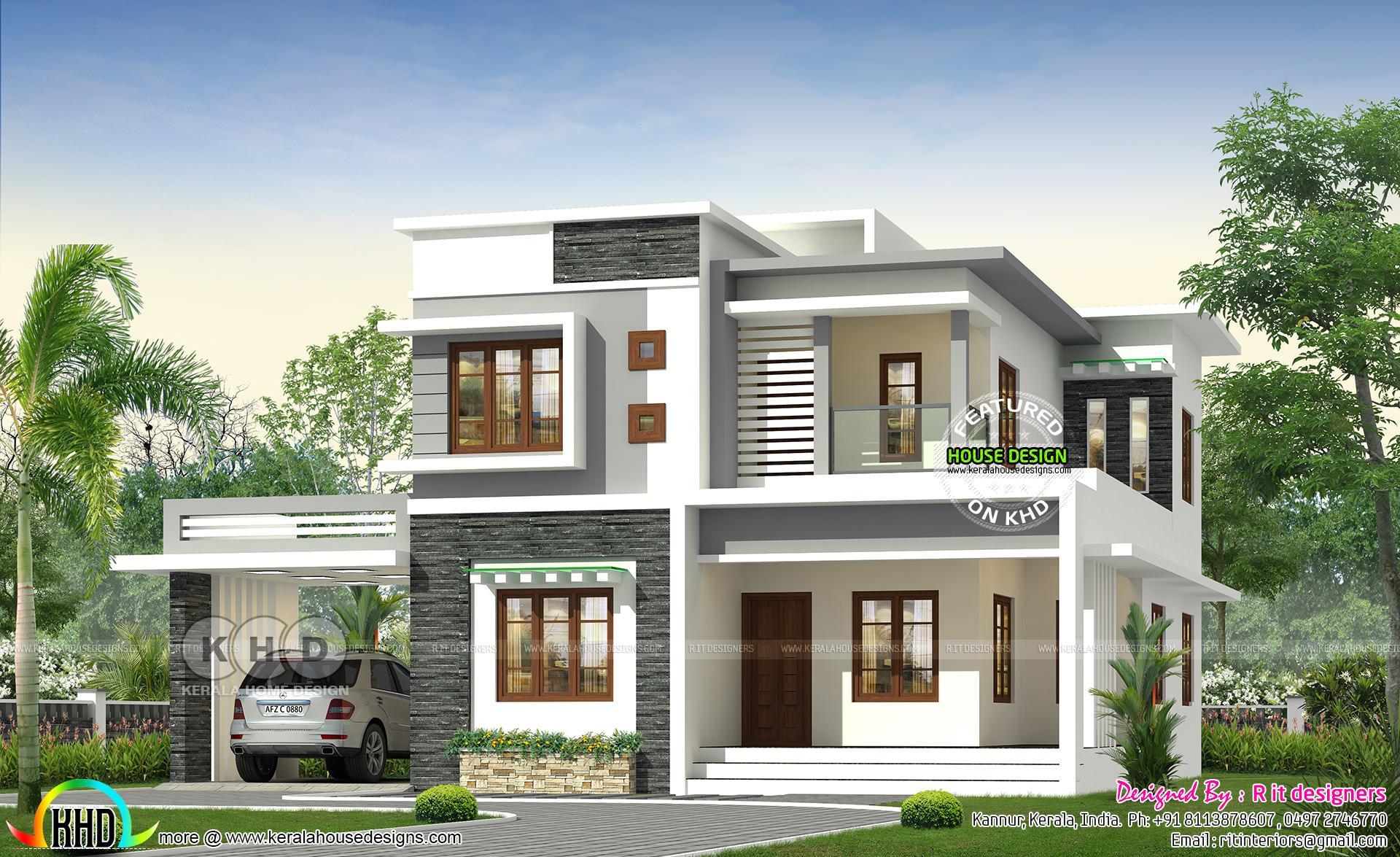 4 Bedroom Modern Home In 2478 Square Feet Kerala Home