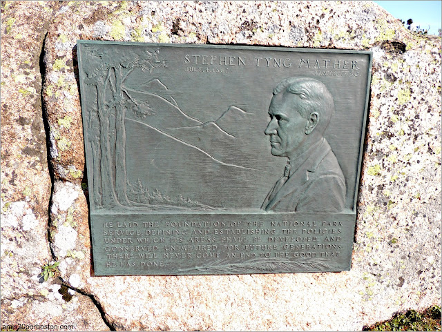 Placa de Stephen Tyng Mather el Promotor de la Creación de los Parques Nacionales de Estados Unidos