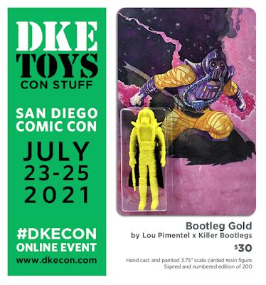 San Diego Comic-Con 2021 Exclusive Bootleg Gold Draco Knuckleduster Resin Figure by Lou Pimentel x Killer Bootlegs x DKE Toys