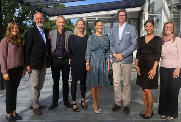 "Crown Princess Victoria attended a seminar on ""negative changes around the Baltic Sea"" held by Zennström Global Initiative at Rosenön congress hall"