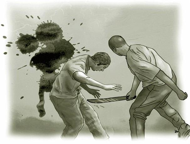 A machetazos matan agente PN durante una riña en Barahona ver VIDEO