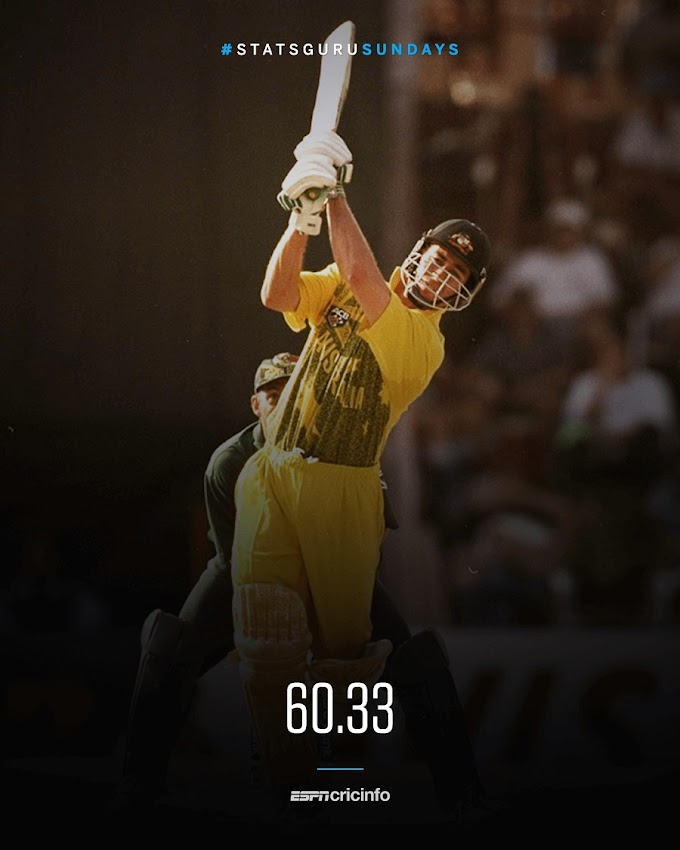 Michael Bevan was the highest-averaging ODI batsman in the 90s