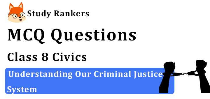 MCQ Questions for Class 8 Civics: Ch 6 Understanding Our Criminal Justice System