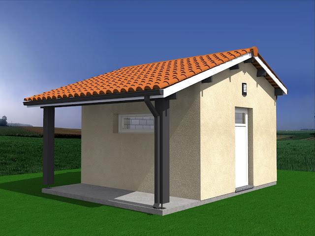 Projet De Construction Abri De Jardin + Auvent 20M2.