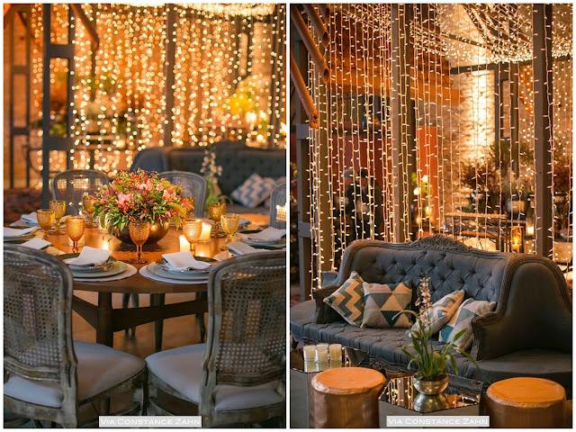 decoração casamento luzes de natal