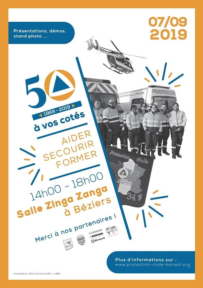 La Protection Civile de l'Hérault fête ses 50 ans !