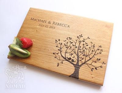 Personalized Cutting Board Wedding Gift