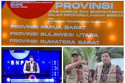 Doni Monardo Serahkan Penghargaan Sinergi Tanggulangi Bencana dari BNPB ke Pemprov Sulut