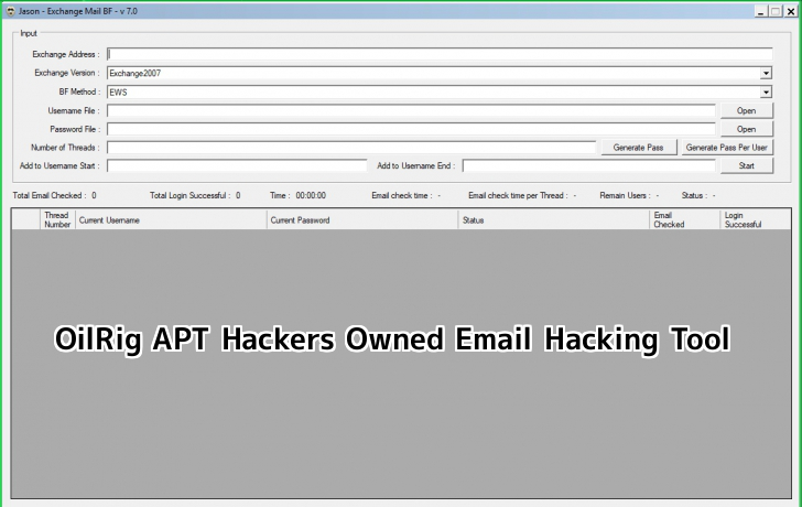Email Hacking Tool  - wBrbF1559645411 - OilRig APT Hackers Owned Email Hacking Tool Laked in Telegram