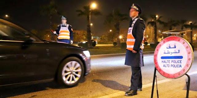 """بعد فرض حظر التجوال الليلي بـ""""كازا"""".. أعوان السلطة وعناصر الشرطة يجوبون شوارع البيضاء"""
