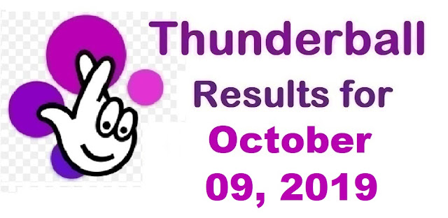 Thunderball Results for Wednesday, October 09, 2019