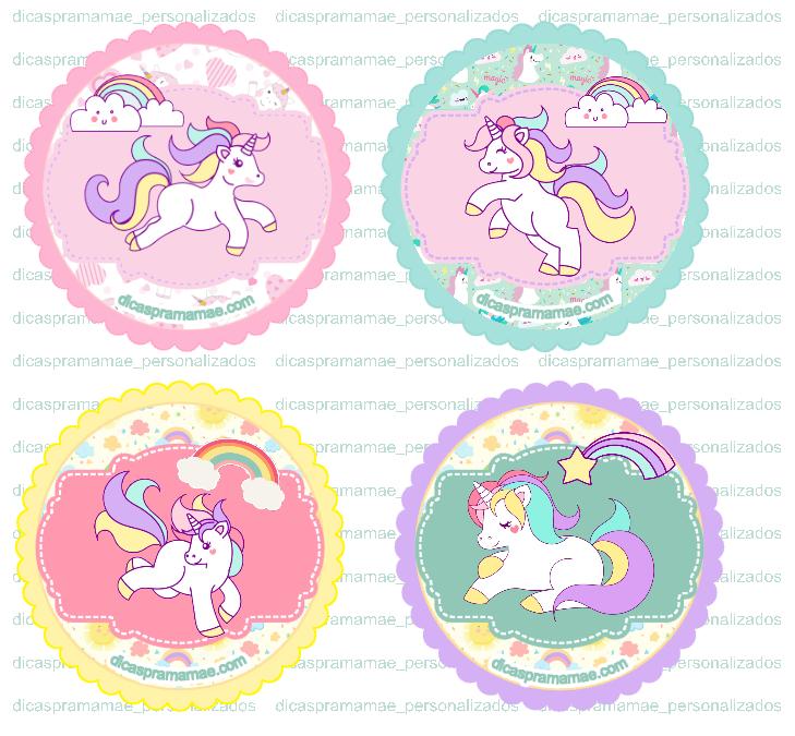 Tags Unicornios Cute Gratuitas Tags Para Docinhos Tema Unicornio