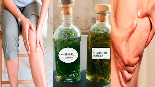 Réduire la cellulite et les varices avec l'alcool de romarin (étape par étape)
