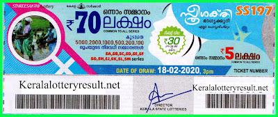 Kerala Lottery Result 18-02-2020 Sthree Sakthi SS-197, kerala lottery, kerala lottery result, kl result, yesterday lottery results, lotteries results, keralalotteries, kerala lottery, keralalotteryresult,  kerala lottery result live, kerala lottery today, kerala lottery result today, kerala lottery results today, today kerala lottery result, Sthree Sakthi lottery results, kerala lottery result today Sthree Sakthi, Sthree Sakthi lottery result, kerala lottery result Sthree Sakthi today, kerala lottery Sthree Sakthi today result, Sthree Sakthi kerala lottery result, live Sthree Sakthi lottery SS-197, kerala lottery result 18.02.2020 Sthree Sakthi SS 197 18february 2020 result, 18-02-2020, kerala lottery result 18-02-2020, Sthree Sakthi lottery SS 197 results 18-02-2020, 18-02-2020 kerala lottery today result Sthree Sakthi, 18-02-2020 Sthree Sakthi lottery SS-197, Sthree Sakthi 18.02.2020, 18.02.2020 lottery results, kerala lottery result february 18 2020, kerala lottery results 18th february 2020, 18.02.2020 week SS-197 lottery result, 18.02.2020 Sthree Sakthi SS-197 Lottery Result, 18-02-2020 kerala lottery results, 18-02-2020 kerala state lottery result, 18-02-2020 SS-197, Kerala Sthree Sakthi Lottery Result 18-02-2020, KeralaLotteryResult.net