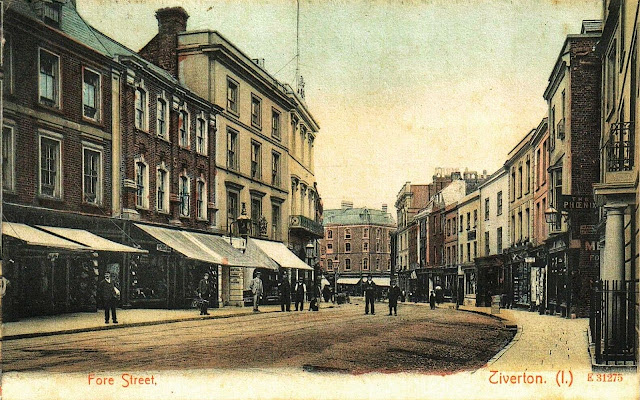 Postcard of Fore Street - Looking East c.1906