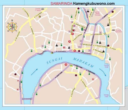 Peta samarinda dalam peta provinsi kalimantan timur