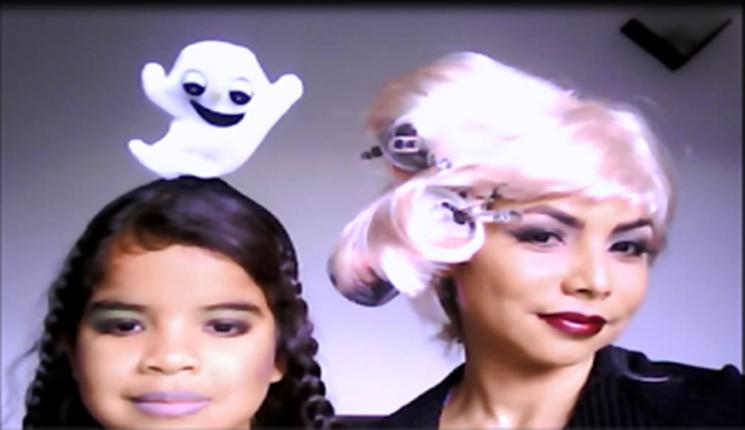 maquillaje de halloween para mujeres y niñas