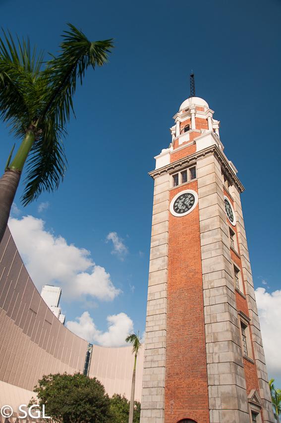 Clock Tower en Hong Kong, la antigua colonia britanica