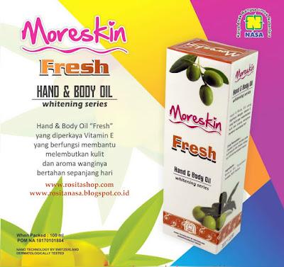 khasiat manfaat Moreskin hand body lotion fresh