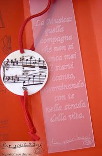 regalo professore musica segnalibro
