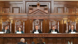 Los integrantes de la Corte Suprema de Justicia Horacio Rosatti, Elena Highton, Ricardo Lorenzetti, Juan Carlos Maqueda y Carlos Rosenkrantz.