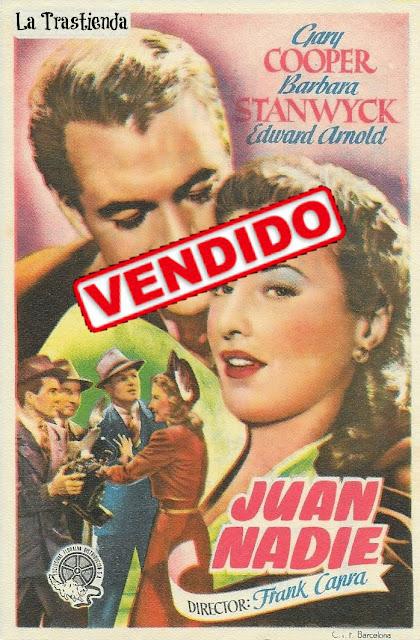 Programa de Cine - Juan Nadie - Gary Cooper - Barbara Stanwyck