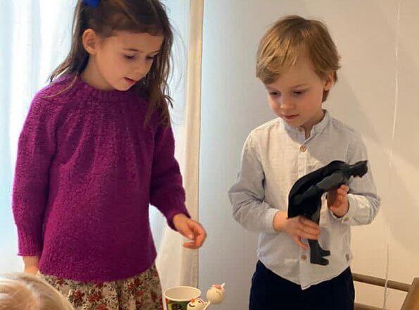 Prince Felix, Princess Claire, Princess Amalia and Prince Liam of Luxembourg