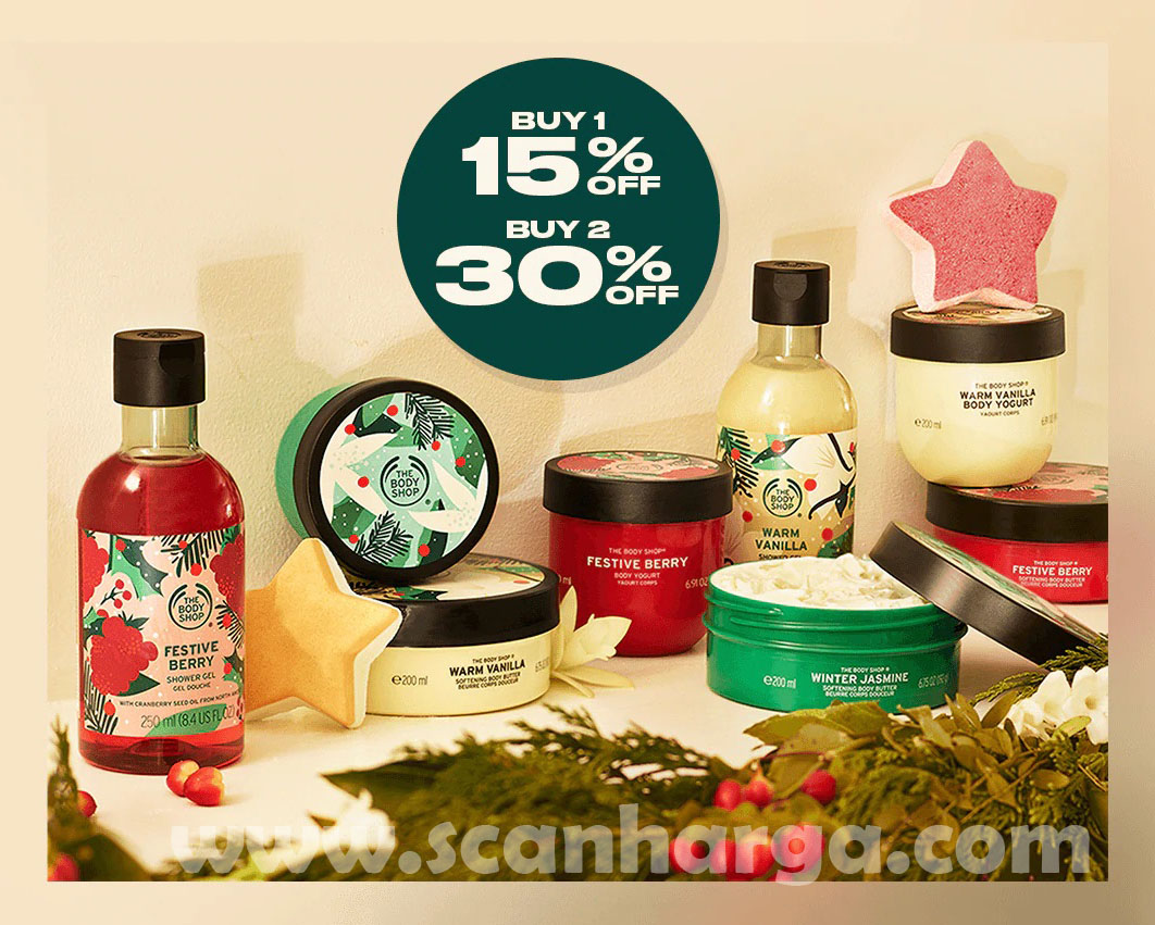THE BODY SHOP Special Promo Christmas Limited Edition