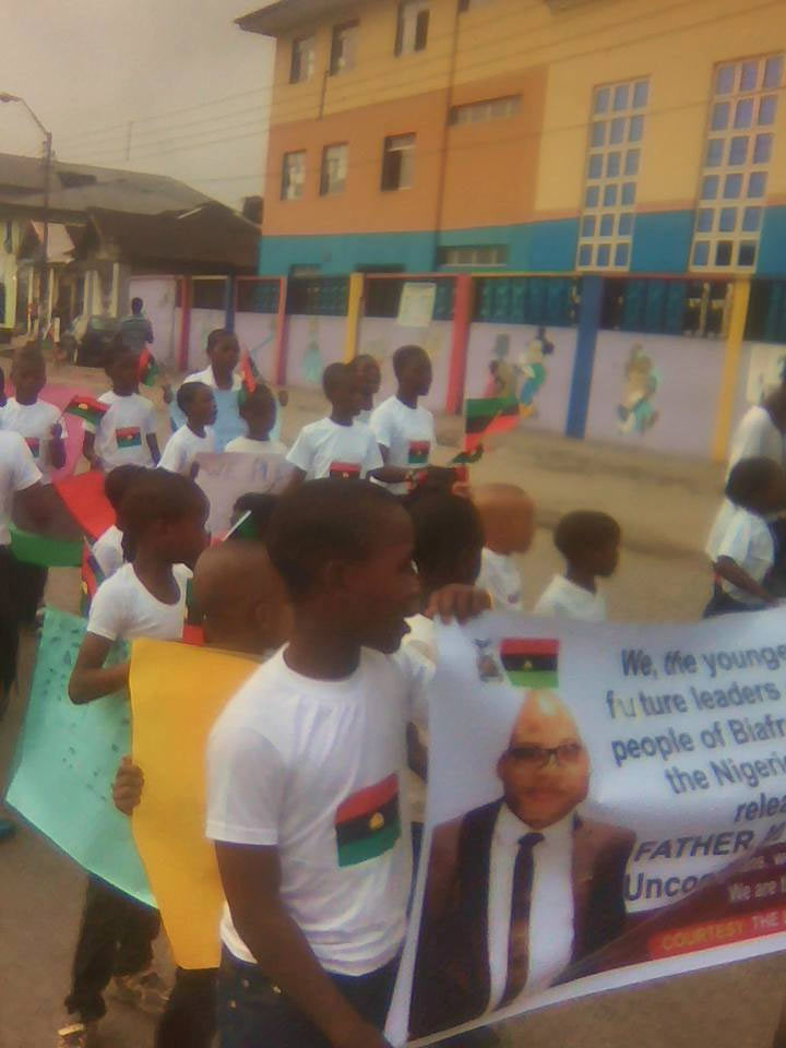 IPOB children hold rally for Nnamdi Kanu's release