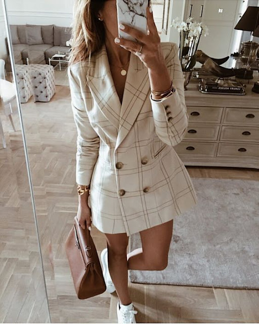 Blazer vestido outfit