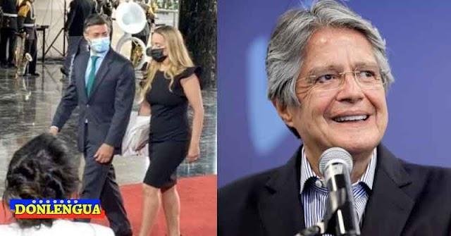Leopoldo con Lilian y Julio Borges de paseo en Ecuador para toma de posesión de Lasso