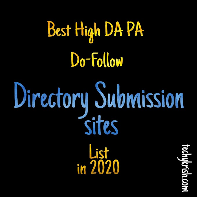 Free High DA PA  Directory Submission Websites list in 2020