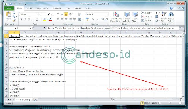 Cara Memperbaiki File CSV yang Berantakan di Excel