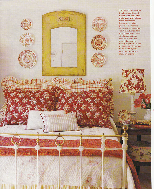 French Country Cottage Feature: Hydrangea Hill Cottage: French Country Cottage In Reds And