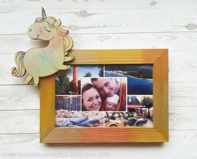 ramka do zdjęć z jednorożcem