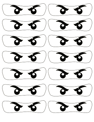graphic relating to Printable Eye named NinjaGo Eyes Body - NinjaGo No cost Printable Eye Frames
