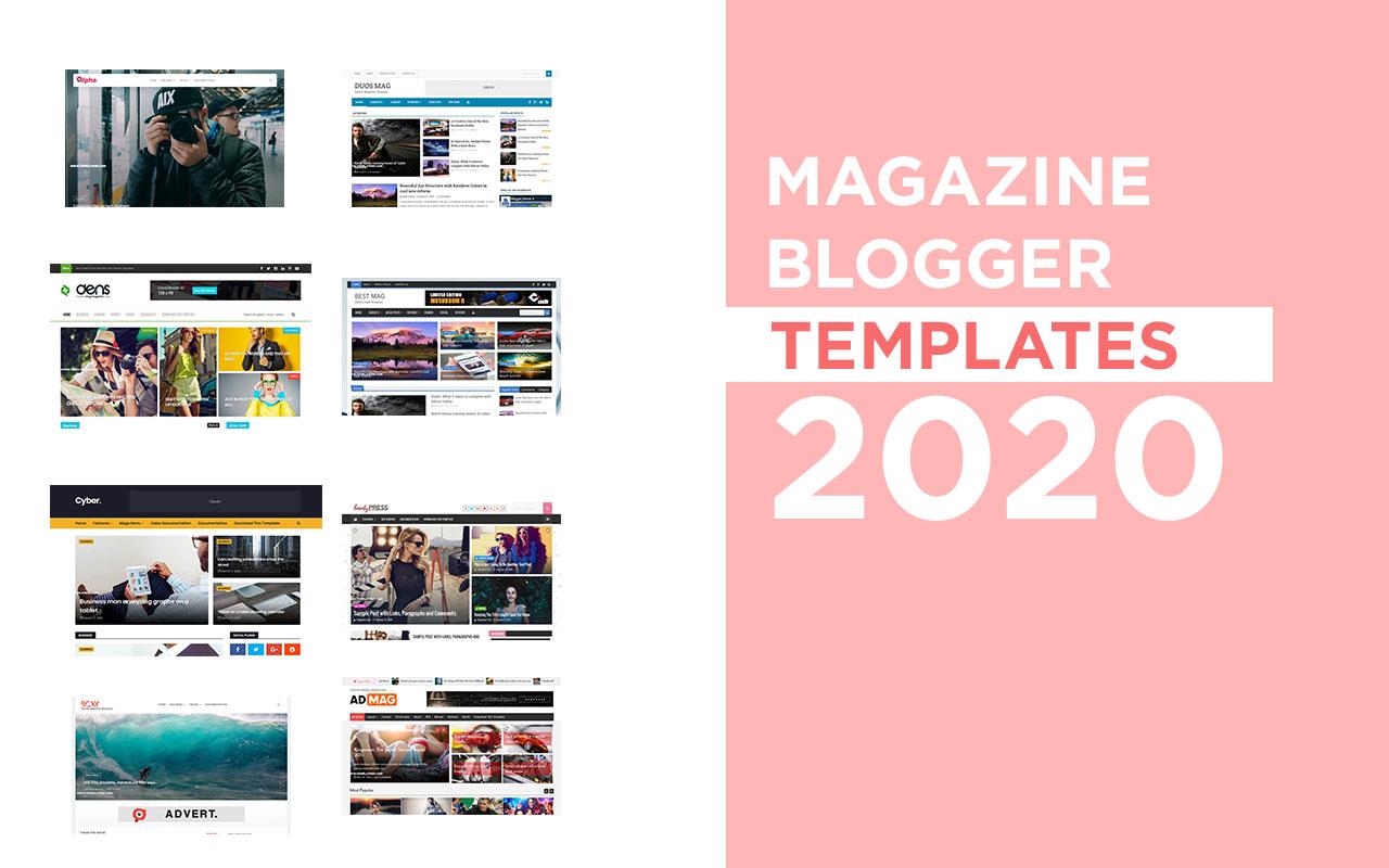 Magazine Blogger Templates 2020