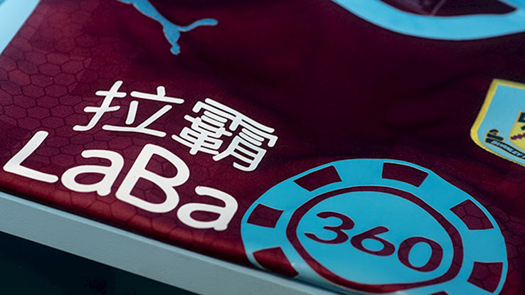 177bc605dfa Burnley FC just revealed their new 2018-19 home kit, which features new  principal club sponsor Laba360's logo on the front for the first time.