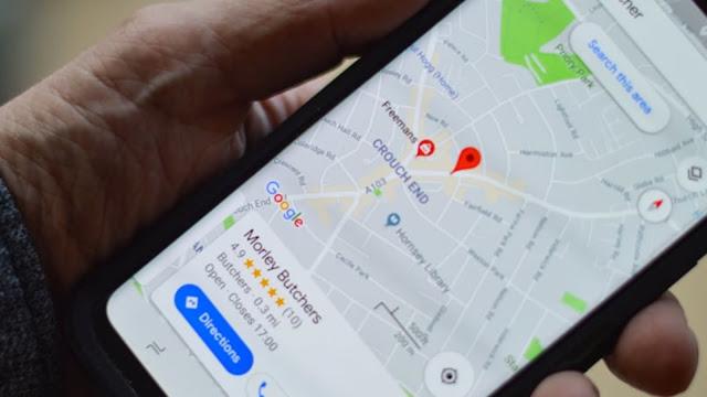 Google Maps no smartphone