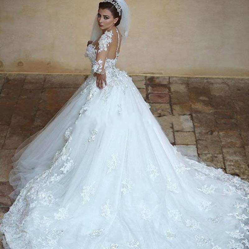 Long Gown Wedding: Mesmerizing Long Train Wedding Dresses Style